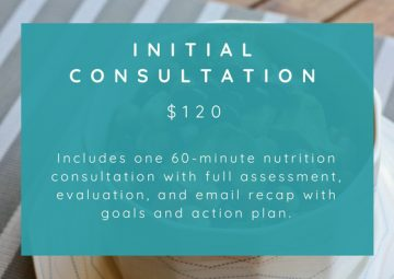 nutrition counseling services initial consultation